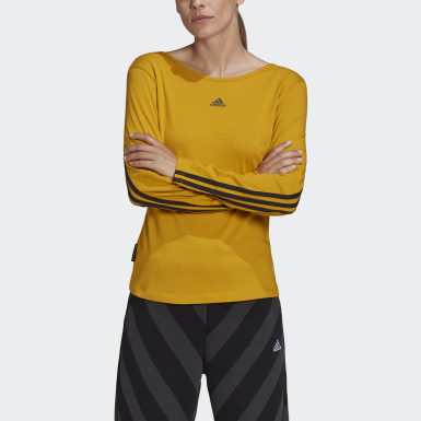 Women Athletics Gold Primeblue Long-Sleeve Top