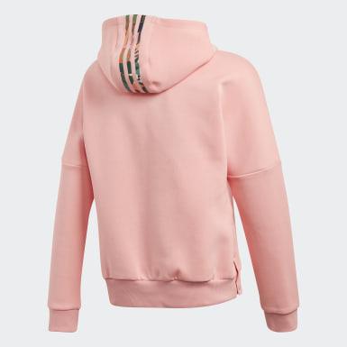 Girls Lifestyle Pink Graphic Hoodie