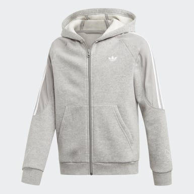 Youth Originals Grey Outline Hoodie