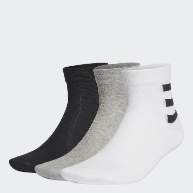 Tennis 3-Streifen Ankle Socken, 3 Paar Weiß