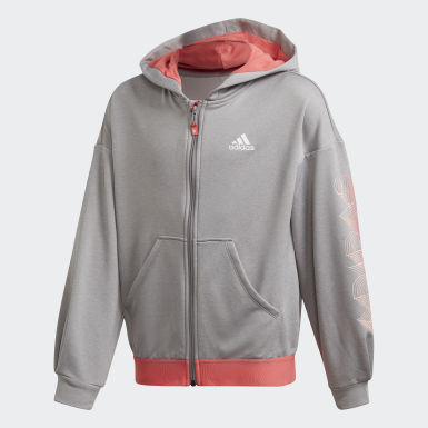 UP2MV AEROREADY Loose Hoodie Szary
