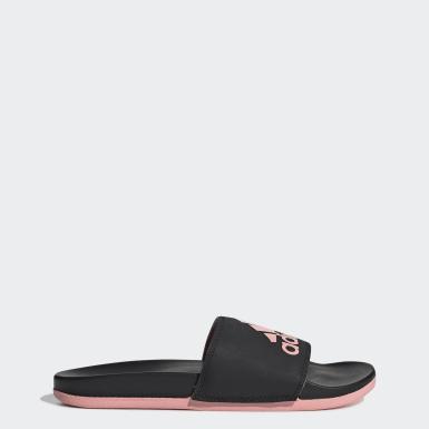 Kvinder Svømning Sort Adilette Cloudfoam Plus Logo sandaler