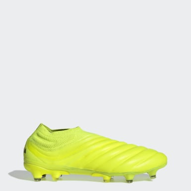 Men Football Yellow Copa 19+ Firm Ground Boots