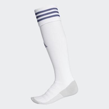 Futbol Beyaz AdiSocks Diz Boyu Çorap