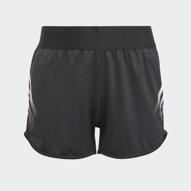 Mädchen Training AEROREADY 3-Streifen Shorts Schwarz