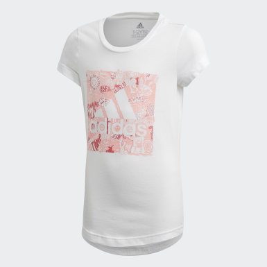 Girls Lifestyle White Must Haves Doodle Badge of Sport Tee