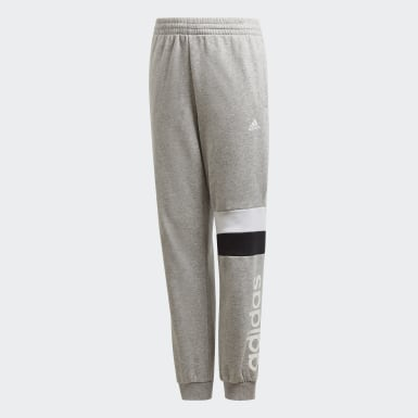 Boys Lifestyle Grey Linear Colorblock Pants