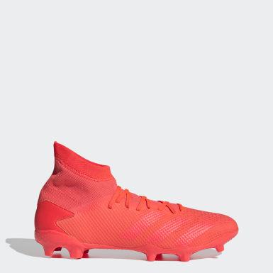 Botas de Futebol Predator 20.3 – Piso Firme Vermelho Futebol