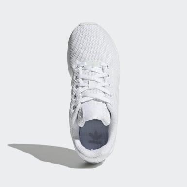 Sapatos ZX Flux Branco Criança Originals