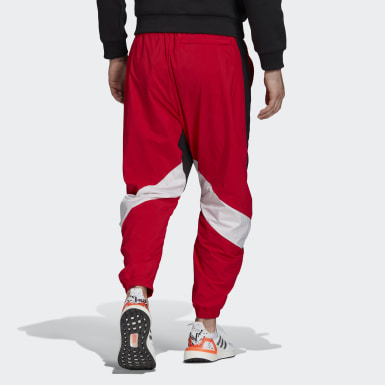 Men Athletics Red O Shape Pants