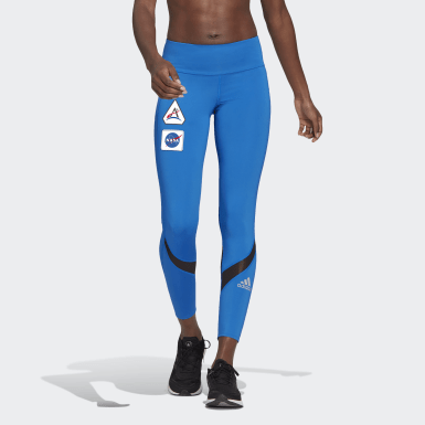 Legging Corrida 7/8 Own The Run Space Race Azul Mulher Running