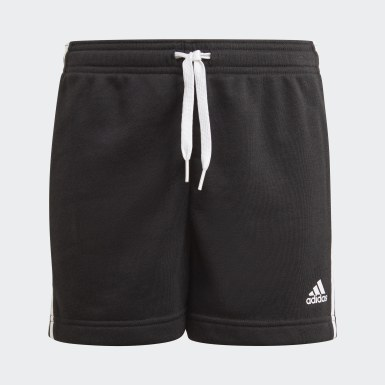 Girls Sport Inspired Black adidas Essentials 3-Stripes Shorts