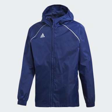 Youth 8-16 Years Training Blue Core 18 Rain Jacket