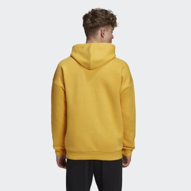 Men's Athletics Yellow Winter Heavy Fleece Hoodie
