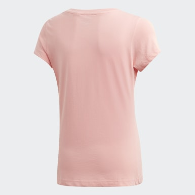 Camiseta Essentials Linear Rosa Meninas Training