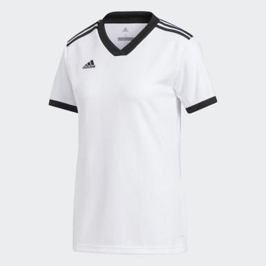 Camiseta Tiro Blanco Mujer Fútbol