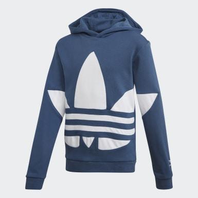 Polera con capucha Gran Trifolio Azul Niño Originals
