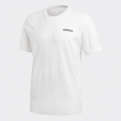 Erkek Training Beyaz Essentials Plain Tişört