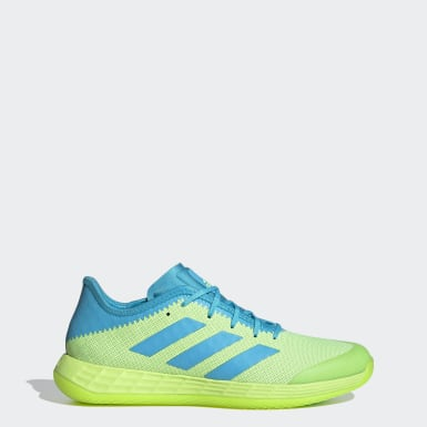 Netball Green Adizero Fastcourt Handball Shoes