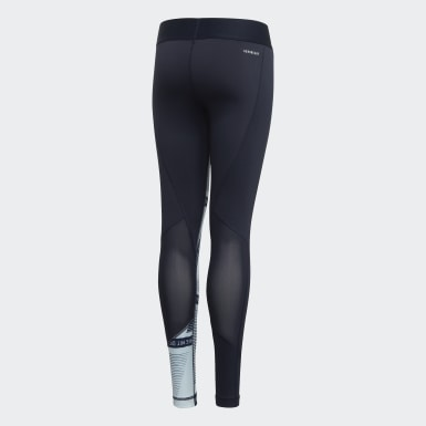 Girls Yoga Blue Alphaskin Tights