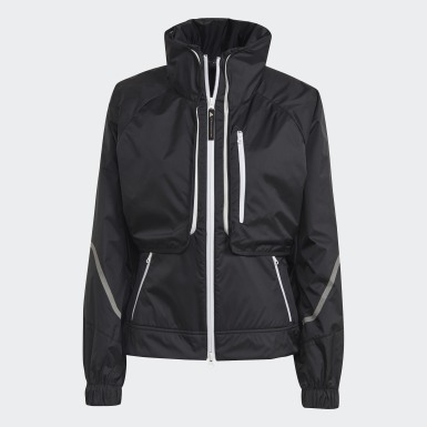 Women adidas by Stella McCartney Black adidas by Stella McCartney TruePace Two-in-One Jacket