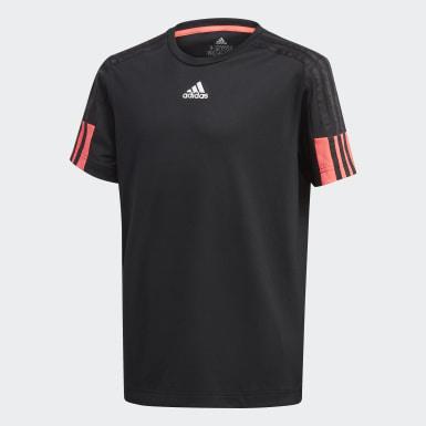 เด็กผู้ชาย โยคะ สีดำ เสื้อยืด Must Haves AEROREADY 3-Stripes