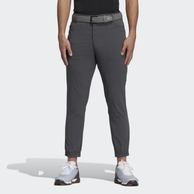 Men Golf Grey Five-Pocket Pants