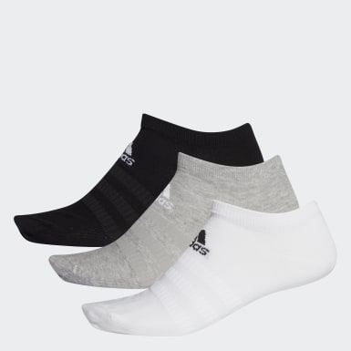 Meias Low-Cut 3 Pares (UNISEX) Cinza Training