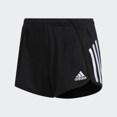 Children Training Black Stripe Mesh Shorts