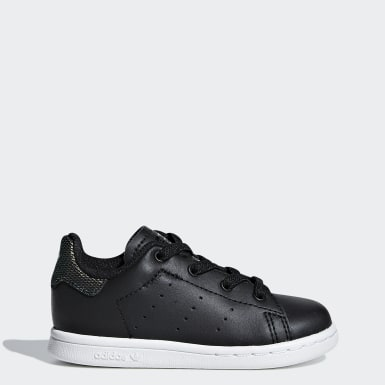 Infant Originals Black Stan Smith Shoes