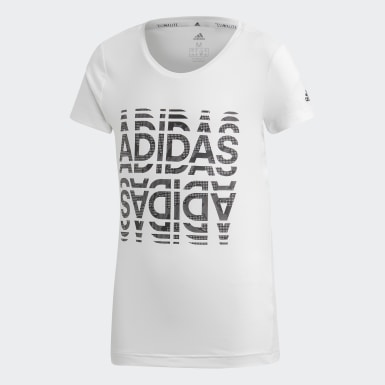Camiseta Font Branco Meninas Training