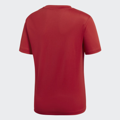 Børn Træning Rød Core 18 træningstrøje