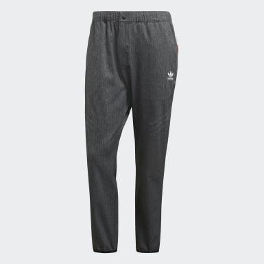 ผู้ชาย Originals สีดำ กางเกงแทรคขายาว UA&SONS Urban