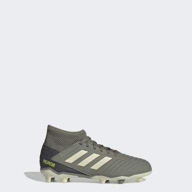 Zapatos de Fútbol Predator 19.3 Terreno Firme Verde Niño Fútbol