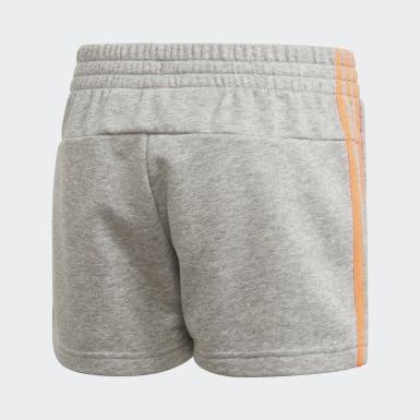 Mädchen Athletics Essentials 3-Streifen Shorts Grau