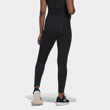Dames Athletics Zwart Essentials Katoenen Legging (Positiekleding)