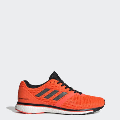Women's Running Orange Adizero Adios 4 Shoes