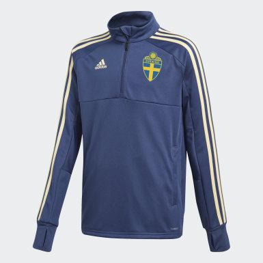 синий Тренировочная олимпийка Швеция