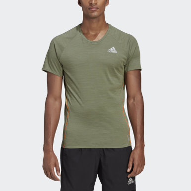 Men Running Green Runner Tee