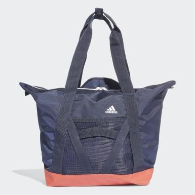 Women Yoga Blue ID Tote Bag
