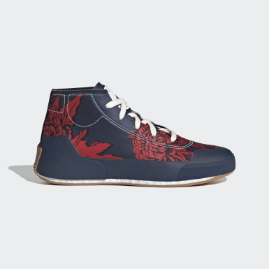 Women adidas by Stella McCartney Blue adidas by Stella McCartney Treino Mid-Cut Print Shoes