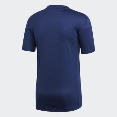 ผู้ชาย ฟุตบอล สีน้ำเงิน เสื้อฟุตบอล Striped 19