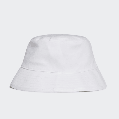 Originals White Trefoil Bucket Hat
