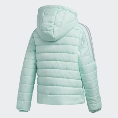 Meisjes Training Turquoise Classic Puffer Jack