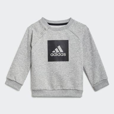 Conjunto em Fleece 3-Stripes Cinzento Criança Treino
