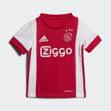 Barn Fotboll Vit Ajax Amsterdam Home Baby Kit