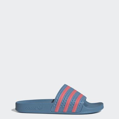 Kvinder Originals Blå adilette sandaler