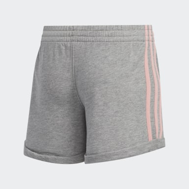 Children Training Grey Cuffed French Terry Shorts