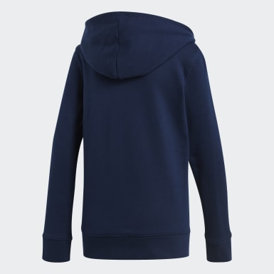 Blusa Capuz Trefoil Azul Mulher Originals