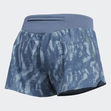 Women Running Blue Saturday Graphic Shorts